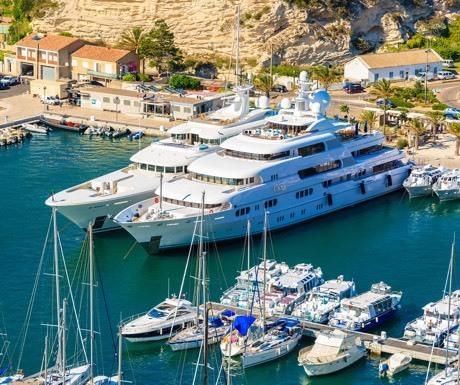 Superyachts in Bonifacio, Corsica