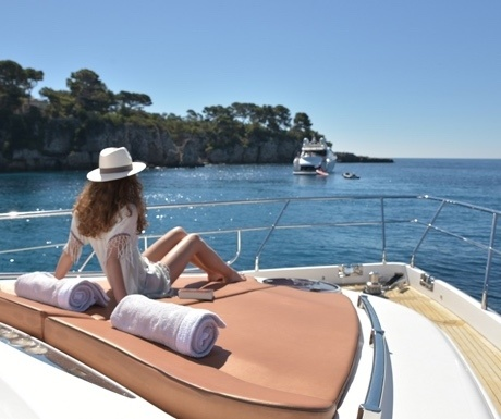 View from charter yacht