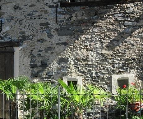 Grey buildings, San Giulio, Lake Garda