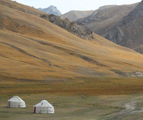 Yurt Camp at Tash Rabat, Kyrgyzstan
