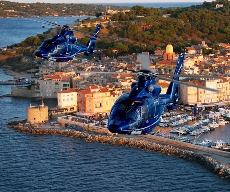 Helicopters over Saint Tropez