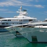 Superyachts in port
