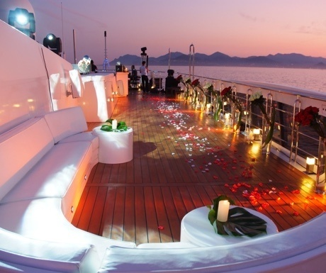 Party on superyacht