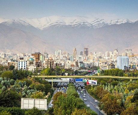 View from Tabiat Bridge, Tehran