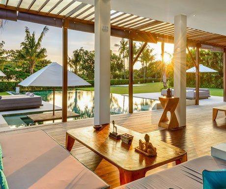 Villa Shalimar Estate sunset