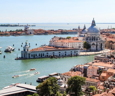 high view of venice italy