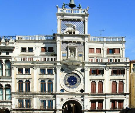 saint marks clock tower, venice, italy