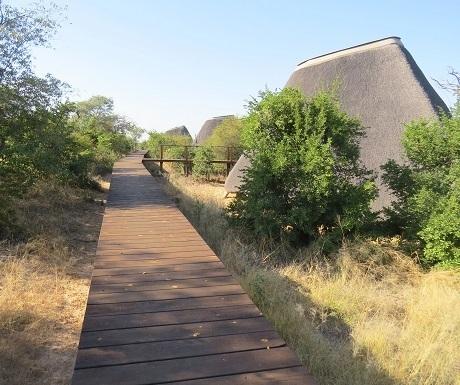 Five luxury lodges, Khaudum, walkway