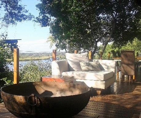 Five Three luxury lodges, River Dance terrace