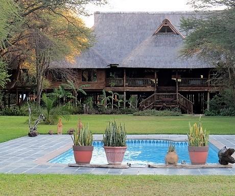 Five luxury lodges, Drotsky's, lodge, pool
