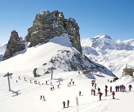 Ski in Tignes all year round up on the glacier