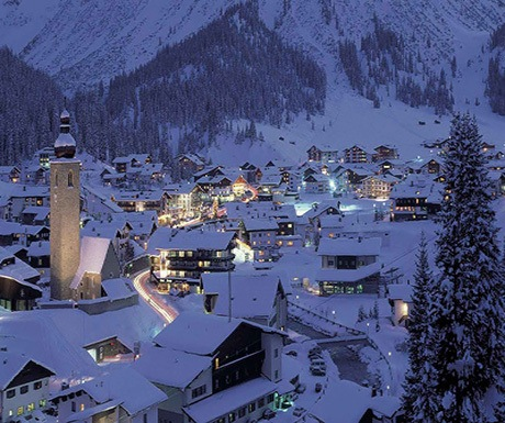 The evening draws in in Lech/Austria