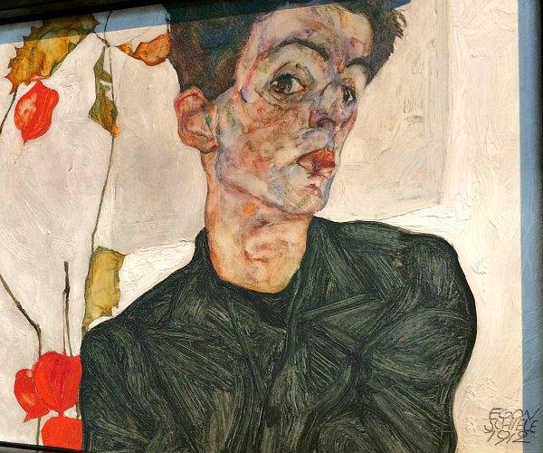 Viennese Modernism: Egon Schiele, self portrait