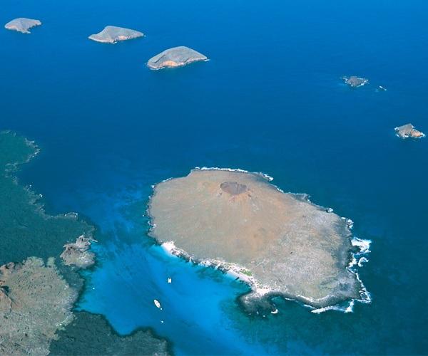 Aerial view Galapagos