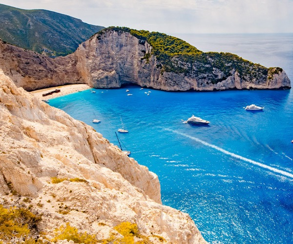 blue sea shipwreck beach greece