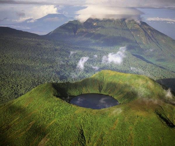 mount Bisoke crater lake