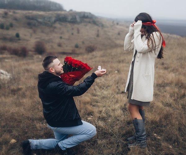 proposing on a Rwanda safari