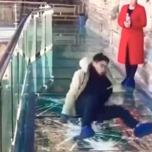 Travel video of the week: A glass bridge high in the mountains in China that 'cracks' beneath you!