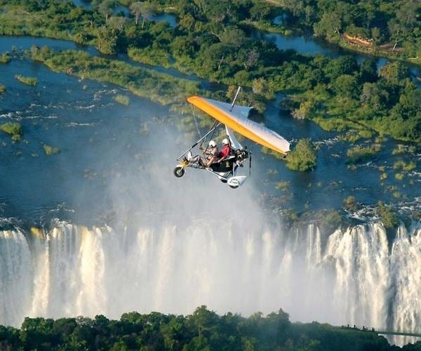 Microlight flight over Victoria Falls.