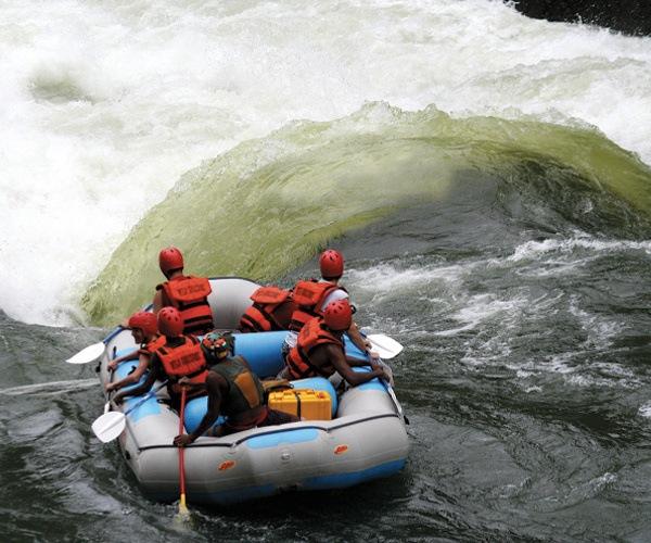 White water rafting on the might Zambezi