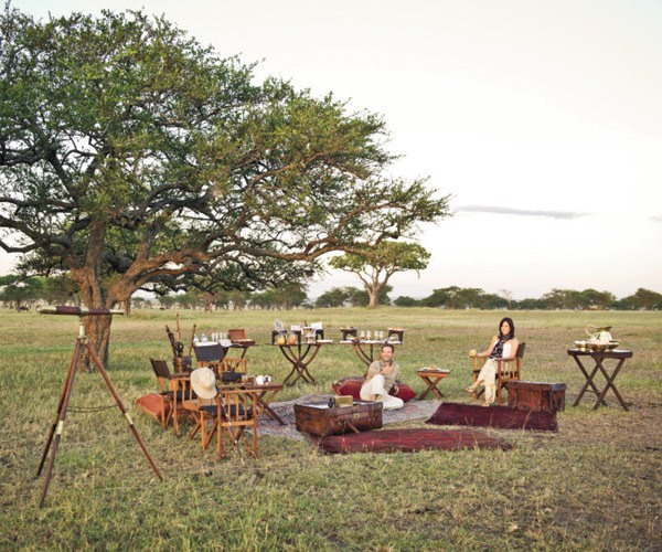 Picnicking on the African plains