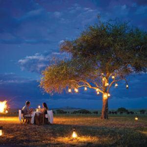 Dinner under African skies