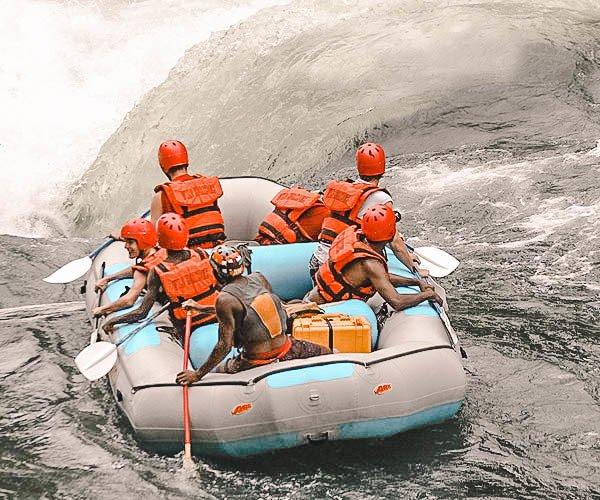 Rafting the Zambezi