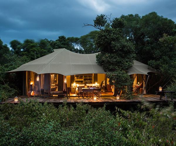 Tented suite at Mara Plains Camp