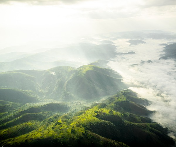 Bwindi Impenetrable Forest aerial shot, Sanctuary Gorilla Forest Camp