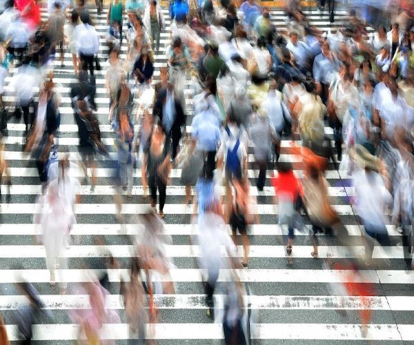 Pedestrians, Osaka, Honshu, Japan