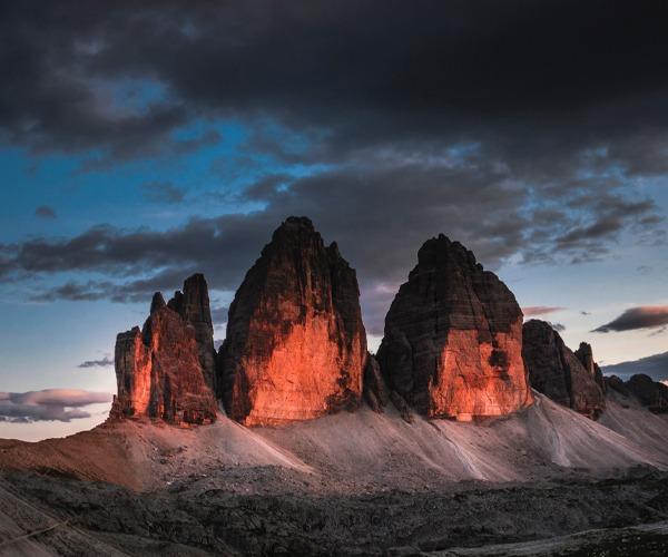 Tre Cime di Lavaredo, Sexten Dolomites, Italy