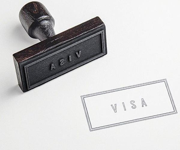 Old school visa stamp