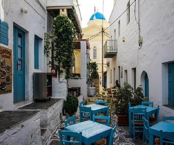The traditional village of Chorio is the only village on the island of Kimolos