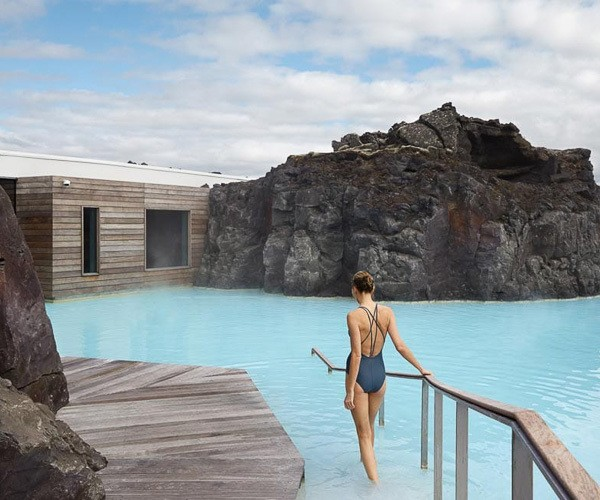 Enjoy the soothing geothermal water at Blue Lagoon in Iceland