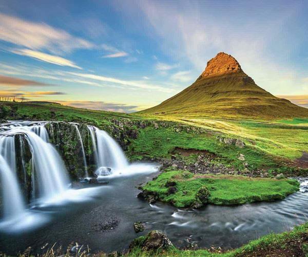 Natural stone bridge in Snaefellsnes Peninsula, Iceland