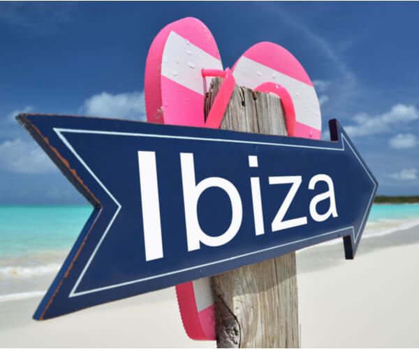 the colours of an Ibiza holiday