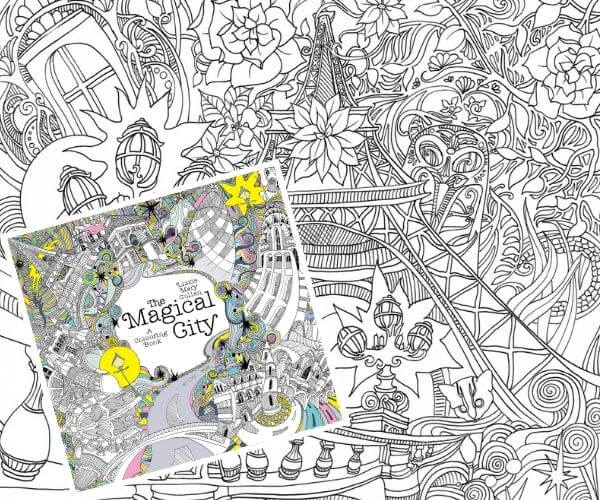 Travel related craft - Magical City Colouring