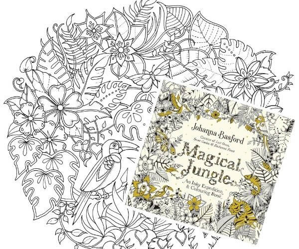 Travel related craft - Magical Jungle Colouring