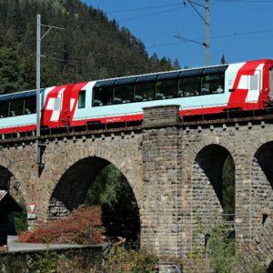 Riding the Glacier Express through Switzerland