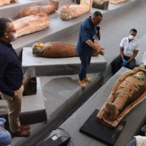 Another 100 coffins discovered at Saqqara Necropolis