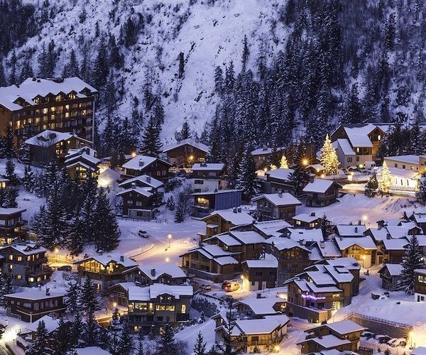 Winter evenings in Courchevel, France
