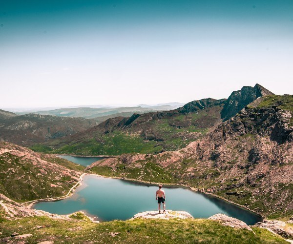 Scaling Snowdon in Snowdonia National Park