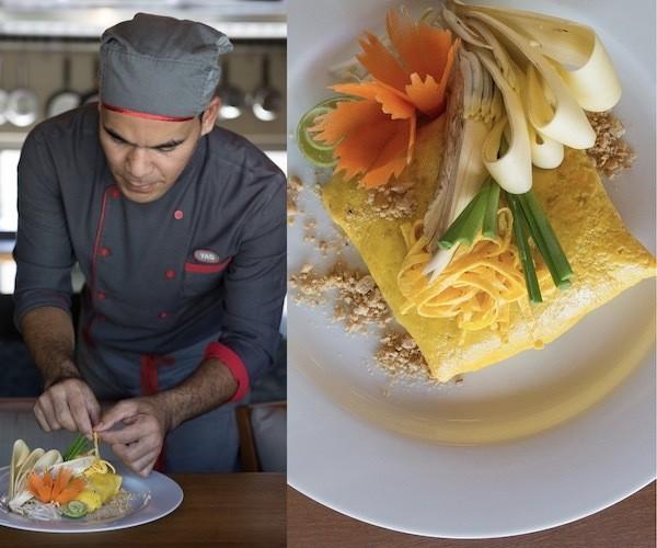 Villa Chef carefully prepares a signature dish