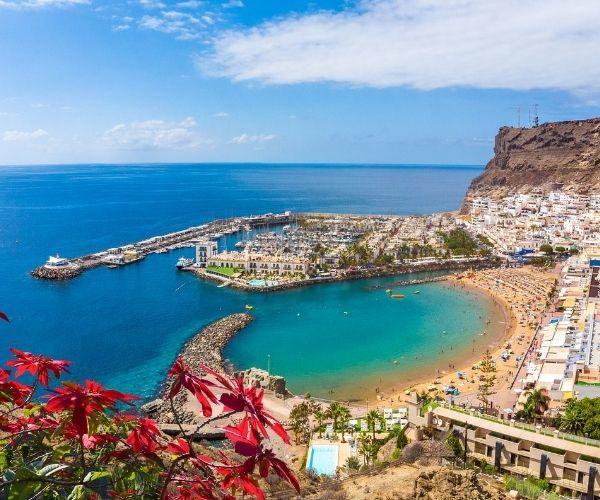 Puerto Mogan Aerial View
