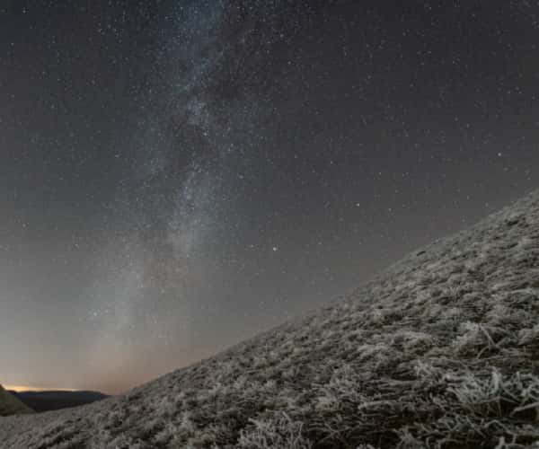 Usk; A wintery shot of the Galactic core nestled between Corn Du and Pen Y Fan. The highest peaks in South Wales