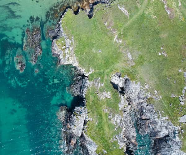Overhead beach in North Wales Lly Peninsula