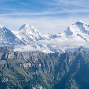 The top peaks of Switzerland