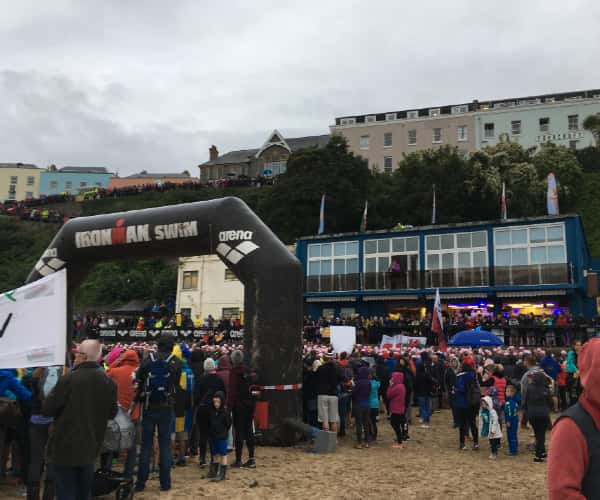 Tenby's North Beach where Ironman Wales starts