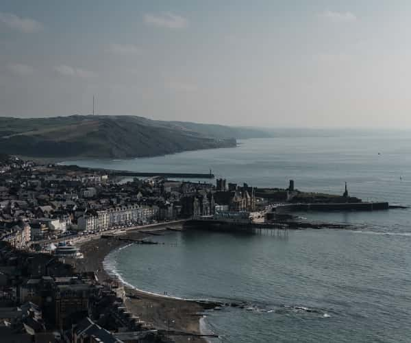 The town of Aberystwyth