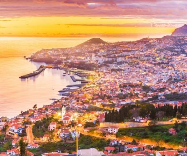 Panoramic View of Funchal in Madeira